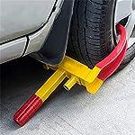 Blackpoolal Radkralle Parkkralle Reifenkralle Radschloss Diebstahlsicherung Radsicherung von Auto, Motorrad ink. 2 Schlüssel (rot-gelb)