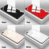 tonguk Verre Miroir Trempé + [Bordure de Protection en Caoutchouc] + [Panneau de Configuration] Coque de Protection pour iPhone X