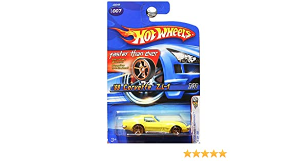 Hot Wheels 2006 First Edition 7 of 38 YELLOW 69 CORVETTE 1969 ZL-1 FASTER THEN EVER 1:64 Scale Die-cast CAR MATTEL SG/_B0021LDQ2K/_US
