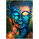 Healifty 5D DIY Diamond Embroidery Painting Cross Stitch Printing Craft Kits Without Frame (Buddha)