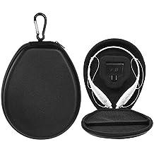 BOVKE Prueba De golpes Protección Caja Funda para LG Electronics + tono HBS-730 HBS730 HBS 730 HBS-750 700 HBS-800 900 700 W Estéreo Inalámbrico Bluetooth Auriculares, Negro