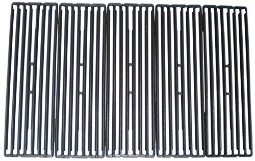 Music City Metals 67845 Set griglia da Cottura in ghisa Opaca per Grill a Gas di Marca Broil King - Nero (2 Pezzi)