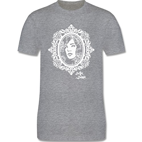 Vintage - Bella Donna - Herren Premium T-Shirt Grau Meliert