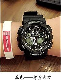 SJXIN Hermoso Reloj de Gama Alta Sanda, Reloj Grande Simple de la Personalidad del Reloj