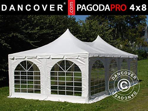 Dancover Partyzelt Pavillon Festzelt Pagoda PRO 4x8m, PVC