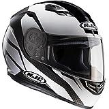 HJC 101405x s Casque Moto, Blanc/Noir, XS