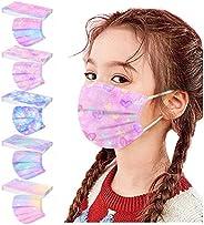 50 Piezas Niños Protección Desechable Transpirables,Infantil de Dibujos Animados para Actividades al Aire Libr