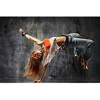 Hip Hop Postereck Sprung Taenzerin Frau Street Dance Musik Tanz Poster 0635