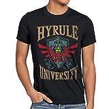 style3 University of Hyrule Herren T-Shirt, Größe:S;Farbe:Schwarz