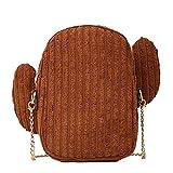 Sunnywill Damen Rucksäcke Handtaschen Schultertaschen Canvas Kleine Tasche Einfache Kaktus Wild Cute Umhängetasche Messenger Bag