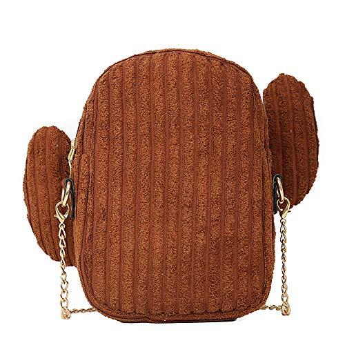 holitie Women Messenger Handtasche Vielseitig Shopper Shoulder Bag Canvas Small Bag Simple Cactus Wild Cute Kette Bag (Cute Hippie Kostüm)
