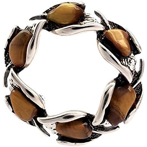 La piedra del ojo del tigre de impresionantes de hojas en forma de corona de/Pin broche