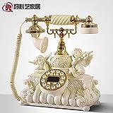 TELEPHNY Cupido Angelo Retro Telefono Moda Carino Lo Stile Fissa Oggetto d'antiquariato Europeo Home Telefonia Fissa Via Cavo-A 25x29cm(10x11inch)