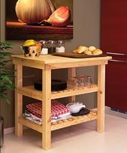 Tavolo da lavoro banco in legno piano appoggio 90 x 60 cm for Amazon arredamento
