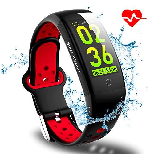 Smartwatch Smart Armband Wasserdicht IP68 Smart Watch Fitness Tracker mit Herzfrequenz Aktivitätstracker Fitness Uhr mit Schrittzähler,Schlaf-Monitor,Stoppuhr,für Android iOS Handy Herren Damen