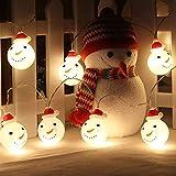 Dricar LED Schneemann Weihnachten Lichterkette, 3.5m 20 LED Partylichterkette Deko Fairy Lights für Weihnachten Home Hochzeit Party Schlafzimmer Geburtstag Dekoration Warmweiß