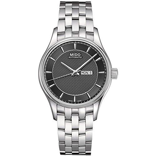 Mido Belluna M0012301106191 - Reloj para mujeres, correa de acero inoxidable color plateado