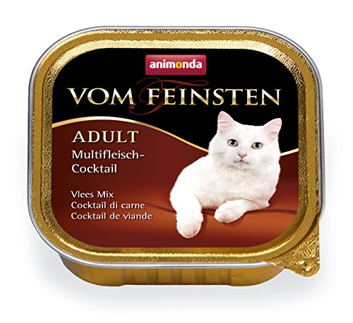 Animonda Vom Feinsten Adult Nassfutter für ausgewachsene Katzen, Multifleischcocktail, 32 x 100 g -