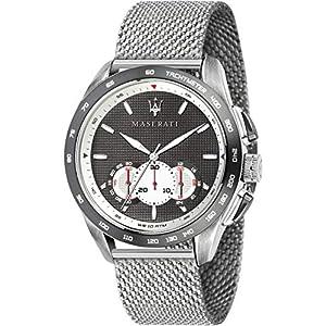 Maserati traguardo Reloj para Hombre Analógico de Cuarzo con Brazalete