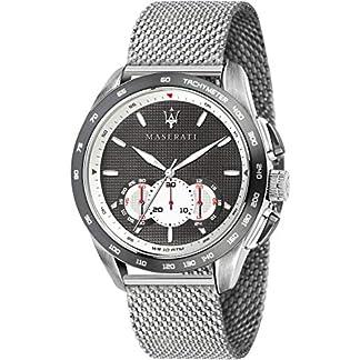 Maserati traguardo Reloj para Hombre Analógico de Cuarzo con Brazalete de Acero Inoxidable R8873612008