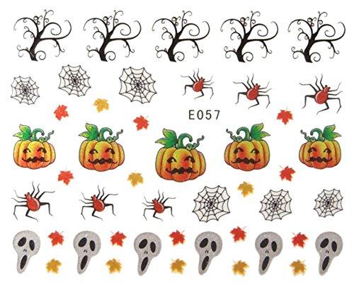 Générique Nail Art Autocollants Stickers Ongles: Décorations Halloween citrouilles Toiles d'araignée