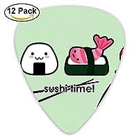 Cartoon Sushi Time Classic Guitar Pick (12 Pack) for Electric Guita Bass