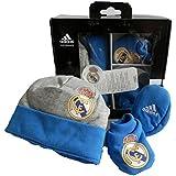 Adidas Real Madrid Gift-Set Baby Beanie Baby Schuhe Neu Gr. OSFB