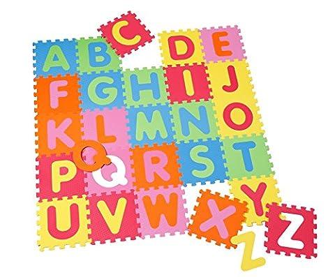 Knorrtoys–21003Jeu Tapis Puzzle de sol Tapis de jeu puzzle tapis mousse Alphabet (26pièces) certifié TÜV (Imbottito Certificato)