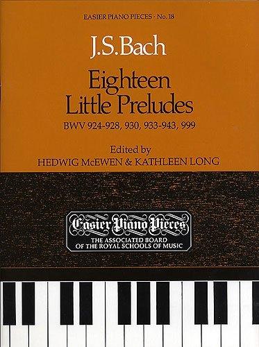 JS Bach: 18 Little Preludes BWV 924-8, 930, 933-43 & 999, Piano Solo