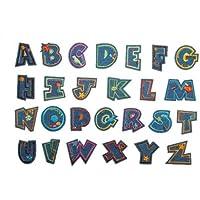 BUCHSTABE Bügelbild ABC A B C bis Z 3 cm 3,9 cm Aufnäher Applikation