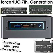 Mini PC y soporte de monitor VESA Intel NUC - Intel NUC i3i5i7 - 8GB DDR4 - 128. 256GB SSD M.2+ 1TB HDD - sonido 7.1 - LAN - Con Windows 10Pro 128GB SSD + 1TB i7-7567U + 8GB