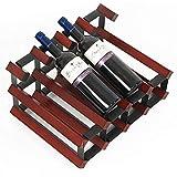 Vin crémaillère 8 Bouteilles de Solide étagère de Stockage d'affichage à vin en Bois autonomes