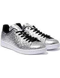 low priced b1cea e155d ADIDAS ORIGINALS STAN SMITH scarpe sneaker in vera pelle Scarpe da  ginnastica argento aq4706 - argento
