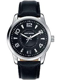 Mark Maddox hombre reloj de cuarzo con negro Esfera Analógica y Negro Correa de PU HC3003-55(Reacondicionado Certificado)