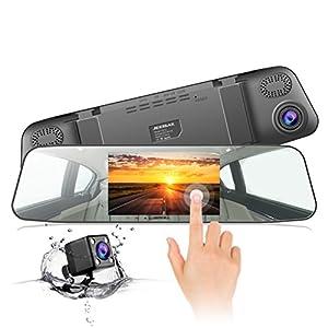 Dash Cam, JEEMAK 1080P IPS Touch Screen Telecamera per Auto, 170 ° Grandangolare Telecamera Cruscotto, WDR, Registrazione in Loop, Monitoraggio del Parcheggio e G-Sensor