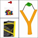 Kids-Lawn-Garden-Summer-Toy-Sling-Shot-Water-Bomb-Catapult-With-20-Balloons-For-Great-Outdoor-Fun-Orange