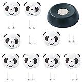 Naisicatar Schnalle Fixe Bettlaken ABS Material Epais Smile Eckbett Clip Kissen Antirutsch Matte Clip Kinderzimmer Clip Stil # Panda Button # X 1
