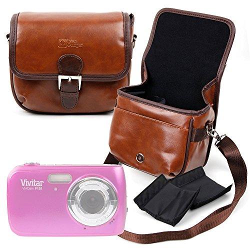 Duragadget borsa vintage per fotocamere vivitar vivicam f126 | vivicam t036 | s126 | xx128 - con tracolla regolabile - alta qualità