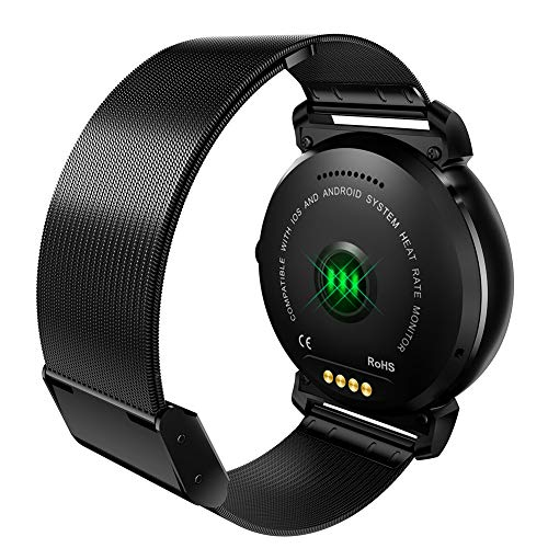 Cossll498 Vintage K88H PLUS Bluetooth Call Heart Rate Monitor Sports Charm Smart Watch for Android iOS - Black Steel Band*