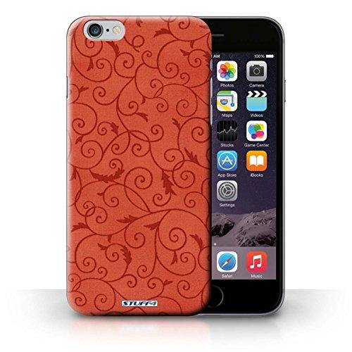 KOBALT® Hülle Case für iPhone 6+/Plus 5.5 | Rosa Entwurf | Vine Blumenmuster Kollektion Rot