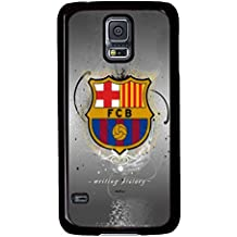 S5 Case, Galaxy S5 Case, Samsung Galaxy S5 Case - Fc Barcelona 2 Protective Case Hard PC Black Cover Heavy Duty Protection Shock-Absorption / Impact Resistant Slim Case for Galaxy S5 / Galaxy SV / Galaxy S V / Galaxy i9600