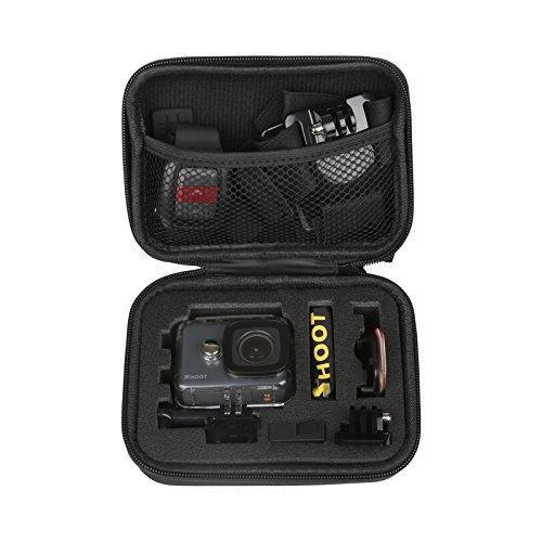 """Descripción: 1.Se pueden almacenar las cámaras GoPro y los accesorios  2.Tamaño: 16cm * 6,5cm * 12cm (6,3 """"* 4,8"""" * 2,8 """"), la pequeña caja de almacenamiento de cámara3.Descompresión y antichoque para proteger la cámara contra los daños fuera 4.Se pu..."""