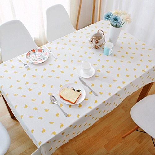QZZ Nappes Nappe de table pastorale en bois et lin (taille : 90 * 140cm)
