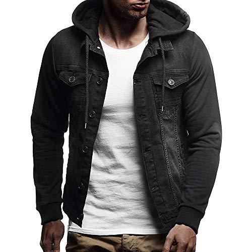 Zolimx Kapuzenpulli für Herren, Männer Herbst Winter mit Kapuze Vintage Distressed Sweatshirts Oberteile Mantel Outwear Basic Corduroy