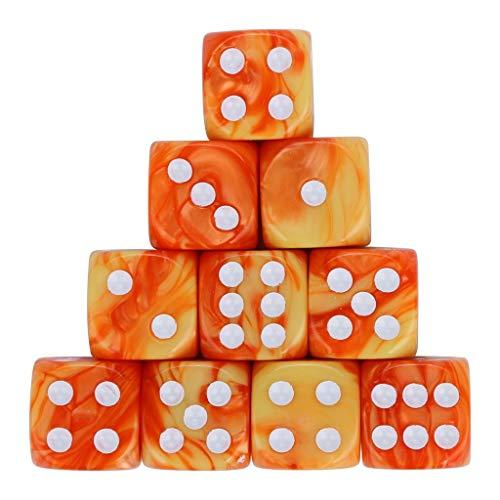 (Würfel Spielzeug Spiele Spiele Zubehör Würfel Zubehör Polyhedrische Rollenspiel 10 teiliges Set Polyedrische mehrseitige Acrylwürfel)