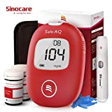 Blood Sugar Tester, Blood Glucose Monitor, Diabetes Testing Kit with Codefree Test Strips x 50 and Lancetsx 50, Sinocare Safe AQ Smart Blood Sugar Glucose Meter for UK Diabetics - in mmol/L
