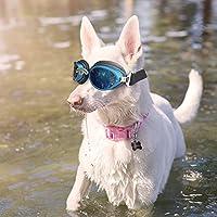 f34bc4d5353677 Chien Lunettes de protection UV étanche Lunettes de soleil pliable pour  chien de taille moyenne à