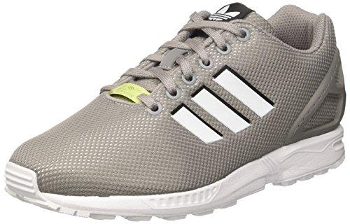 Solid White Herren Schuh (adidas Herren ZX Flux Laufschuhe, Mehrfarbig (Ch Solid Grey/Ftwr White/Ice Yellow F16), 48 EU)