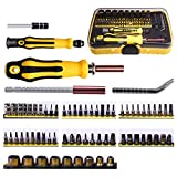 Schraubendreher-Satz-Set Kuman 70 in 1 Professional Screwdriver Kit Portable Magnetic Driver Set Electronic Precision Auto and Homeowner's Tool Kit for Install Repair Maintain Appliances P7100