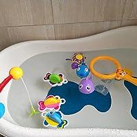 Juguete de baño flotante de pesca arroja a chorros Juguete y agua cucharada bañera juguetes juego de red de peces en la bañera Cuarto de baño piscina tiempo de baño para niños niño bebés niñas bañera bañera cuchara 1 conjunto